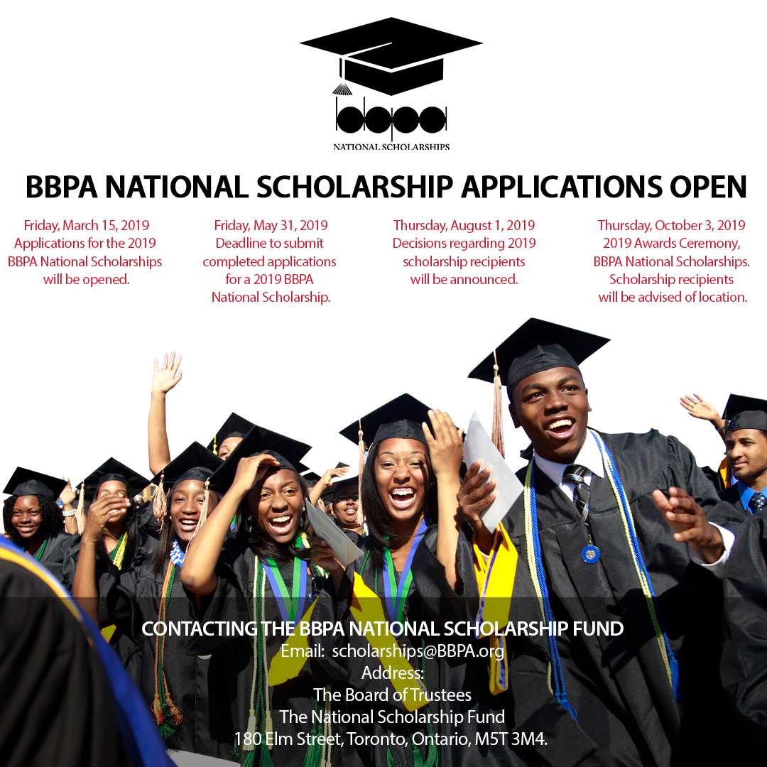2019 National Scholarships Application